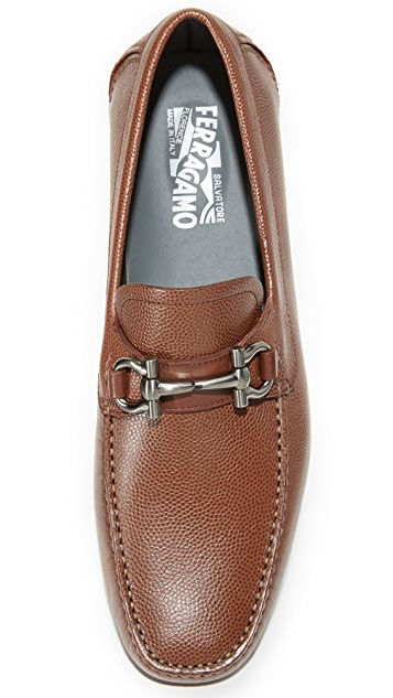 Salvatore Ferragamo Parigi Bit Leather Drivers
