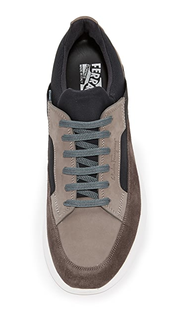 Salvatore Ferragamo Duo Suede Sneakers