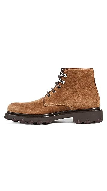 Salvatore Ferragamo Denver Suede Hiking Boots