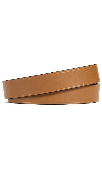 Salvatore Ferragamo Tonal Leather Gancio Belt