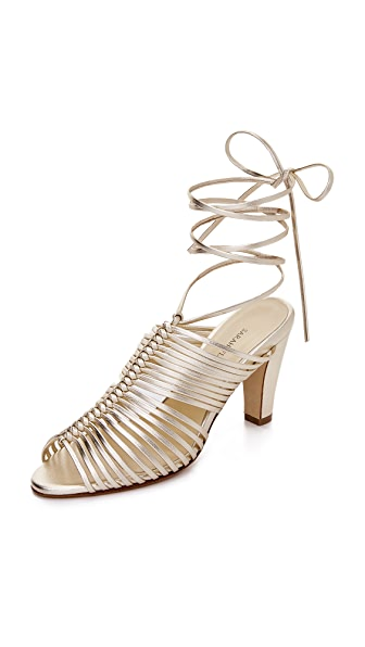 Sarah Flint Ivy Strappy Sandals In Gold