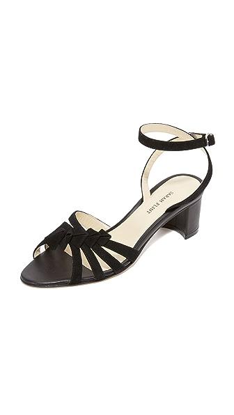 Sarah Flint Snapdragon Block Heel Sandals - Black