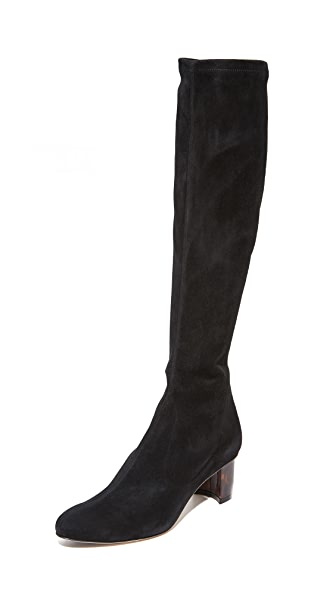 Sarah Flint Alexandra Boots In Black