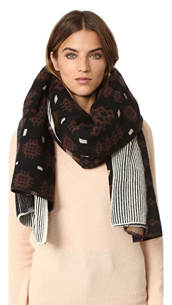 Standard Form Oversized Inga Plaid Scarf