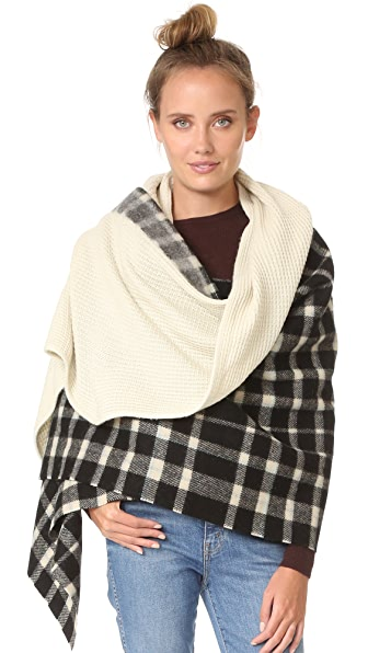 Standard Form Oversized Mini Grid Scarf