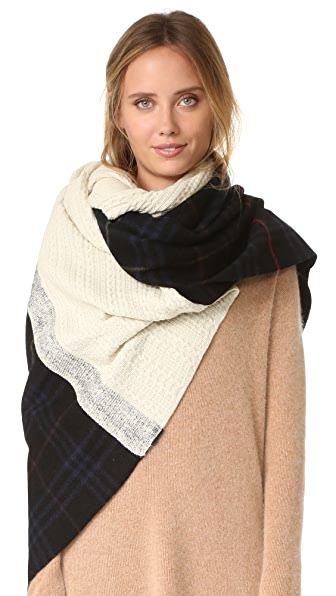 Standard Form Oversized Neo Plaid Scarf