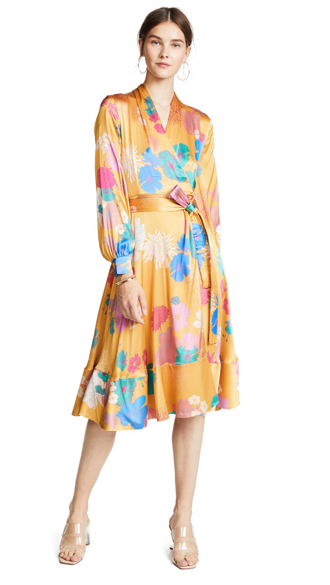 Stine Goya Reflections Silk Wrap Dress