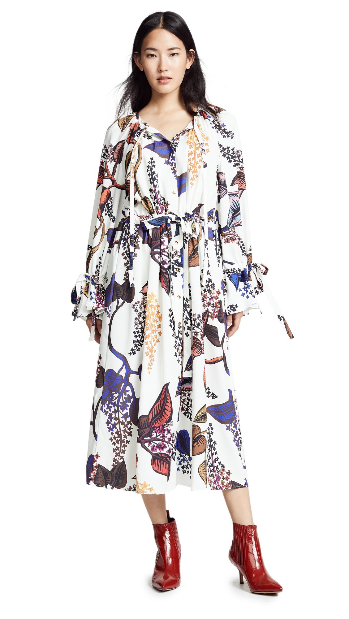 STINE GOYA Jacques Floral Belted Midi Dress