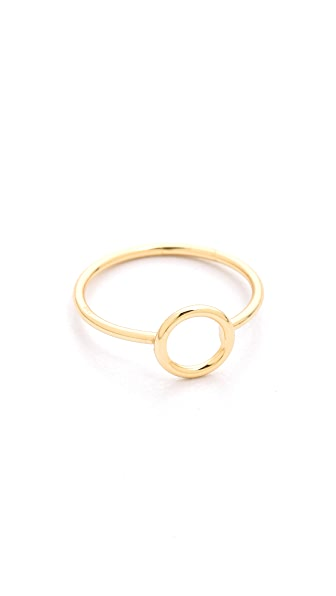 Shashi Circle Ring In Gold