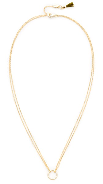Shashi Circle Necklace - Gold