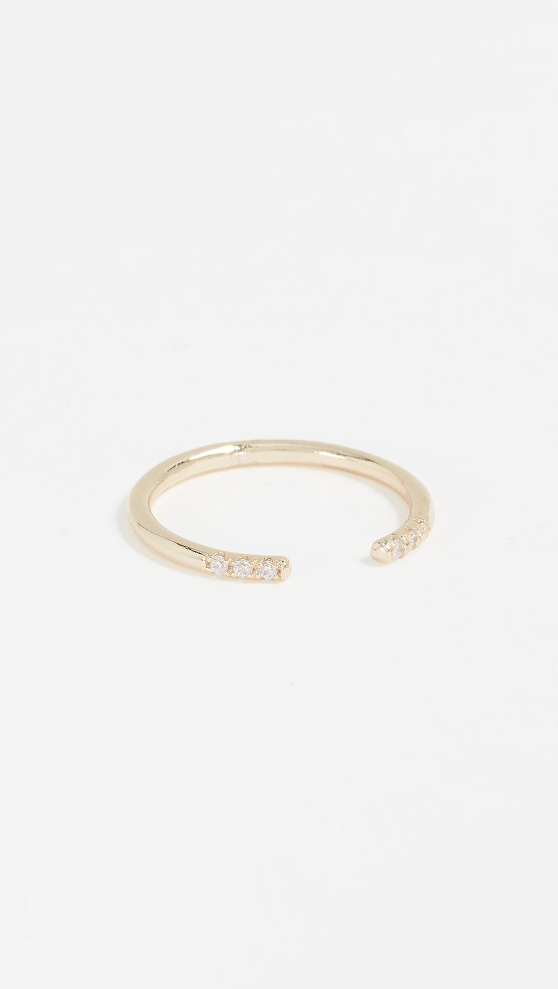 Shashi Ava Ring - Clear/Gold