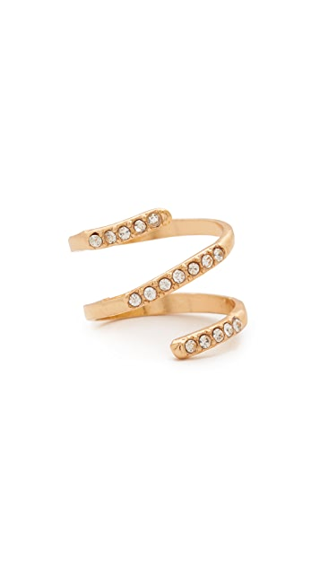 Shashi Swirl Midi Pinky Ring