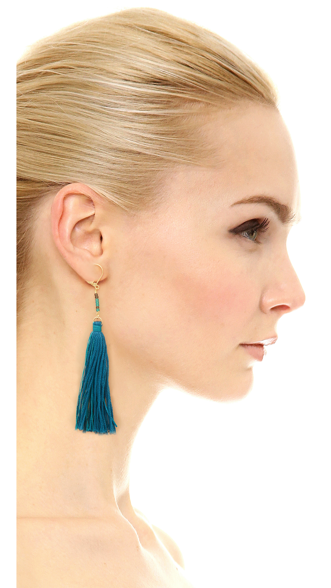 Shashi Carolina Tassel Earring in Sage gg8reA