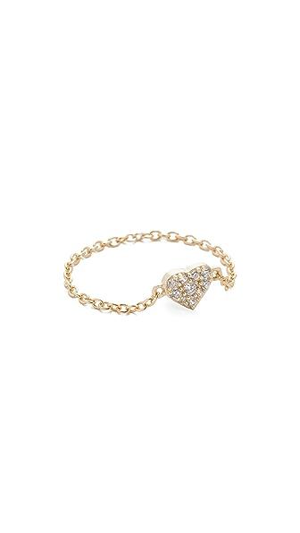Shashi Heart Chain Ring