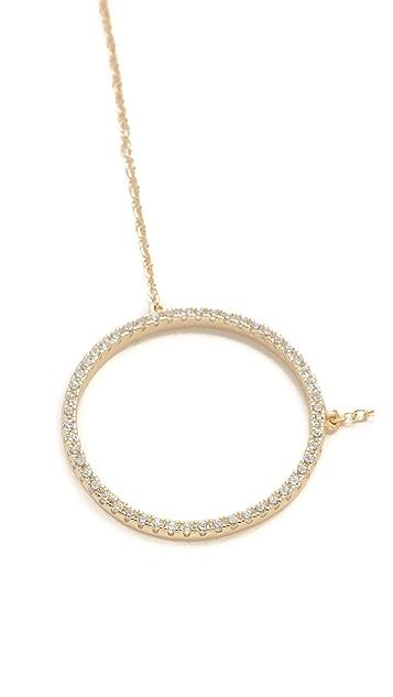 Shashi Large Circle Pave Necklace