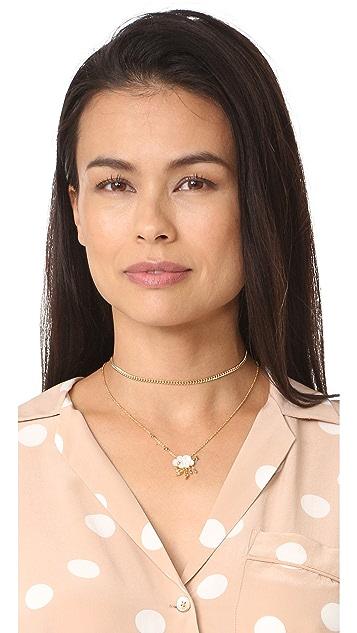 Shashi Plain Chain Choker Necklace
