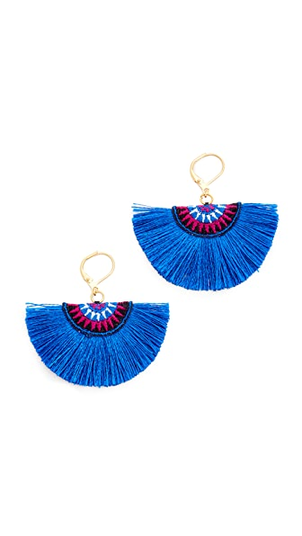 Shashi Sophie Fan Earrings - Colbalt