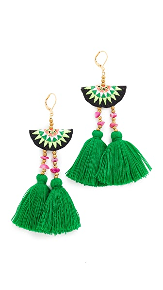Shashi Camille Earrings In Green