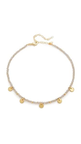 Shashi Crystal Disc Choker Necklace