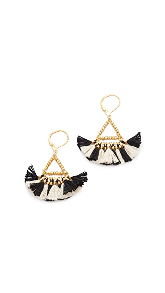 Shashi Lilu Earrings - Black/White