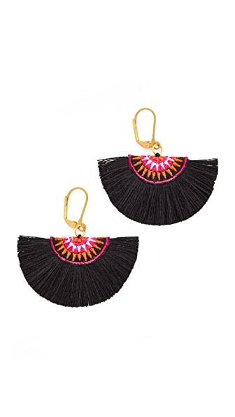 Shashi Sophie Fan Earrings In Black/Pink
