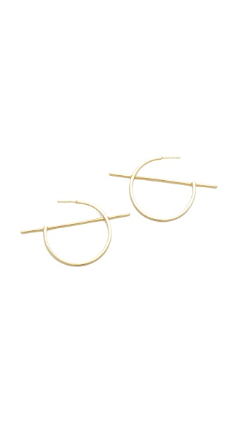 Shashi Vera Hoop Earrings - Gold