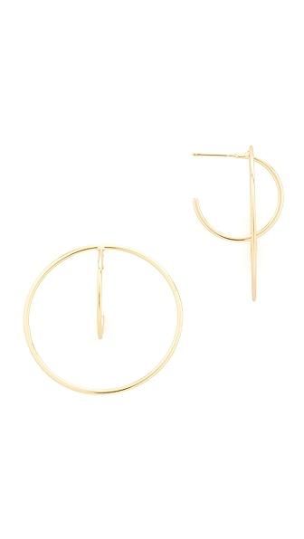 Shashi Venus Hoop Earrings