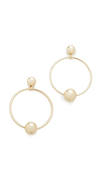 Shashi Tiffany Hoop Earrings - Gold