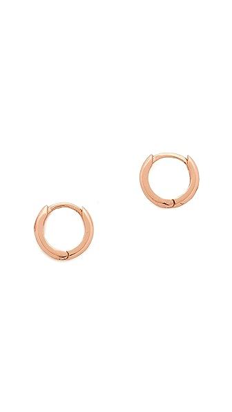 Shashi Katrina Hoop Earrings - Rose Gold