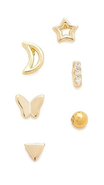 Shashi Ella Earring Stud Set - Gold