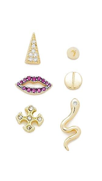 Shashi Amelia Earring Set - Gold