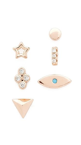 Shashi Ariel Stud Earring Set - Rose Gold
