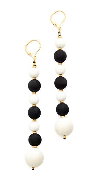 Shashi Veronica Earrings - Black/White