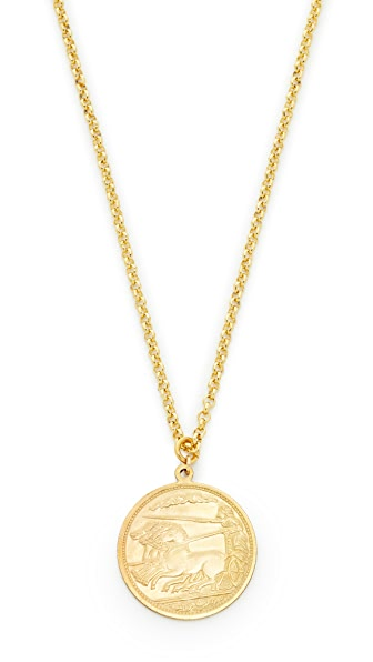 Shashi Warrior Pendant Necklace - Gold