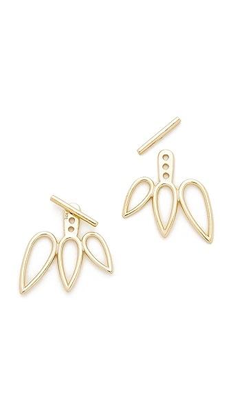 Shashi Open Wing Ear Jacket - Gold