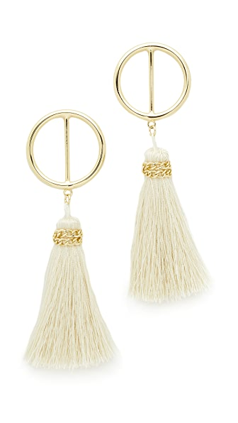 Shashi Mia Hoop Earrings - Gold/White