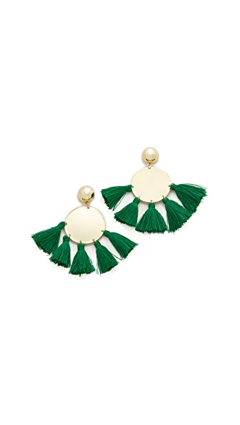 Shashi Jamie Earrings - Emerald