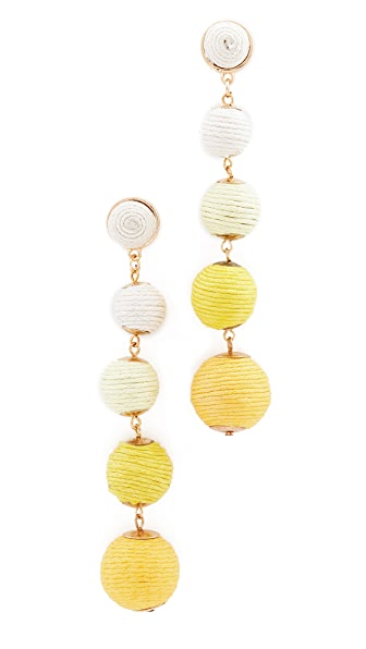 Shashi Tilda Earrings In Yellow