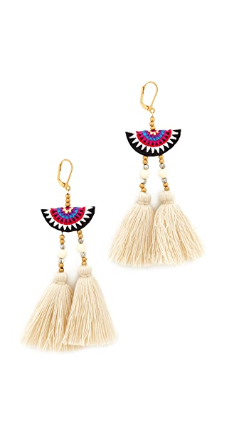 Shashi Camilla Earrings - White Multi