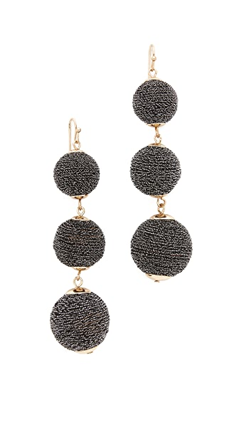 Shashi Matilda Sparking Earrings - Black