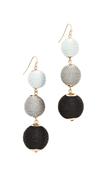 Shashi Barbara Earrings - Black
