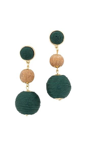 Shashi Matilda Earrings - Green