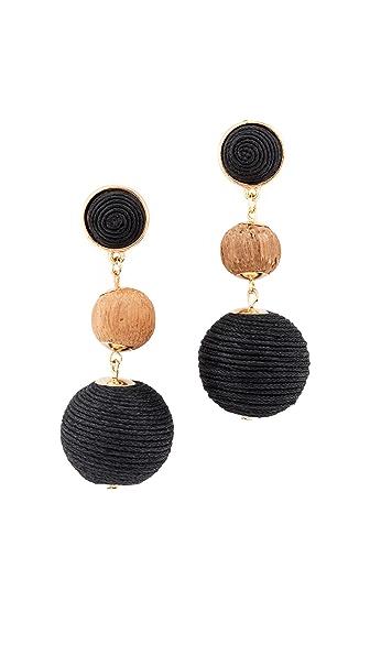 Shashi Matilda Earrings In Black
