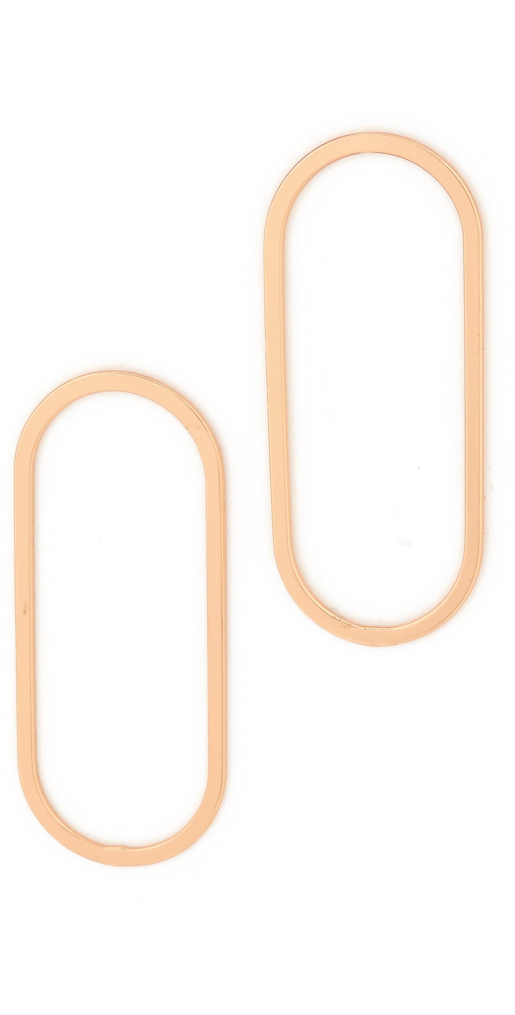 Oblong Hoop Earrings Shashi