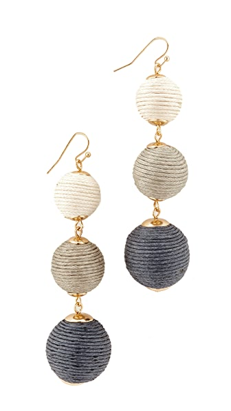 Shashi Lucy Earrings - Grey