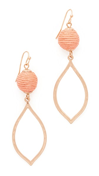 Shashi Nova Earrings - Peach
