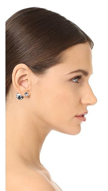 Shashi Marble Double Ball Earrings