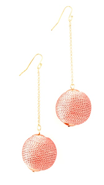 Shashi Silk Matilda Chain Drop Earrings - Peach
