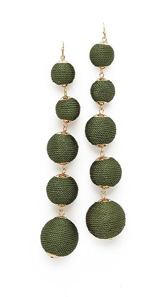 Shashi Lydia Ball Earrings - Green