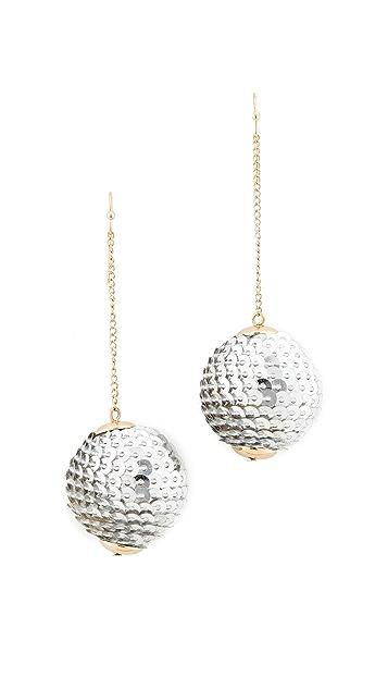 Shashi Matilda Sequin Ball Drop Earrings